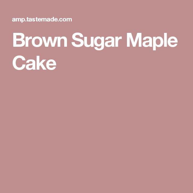 Brown Sugar Maple Cake