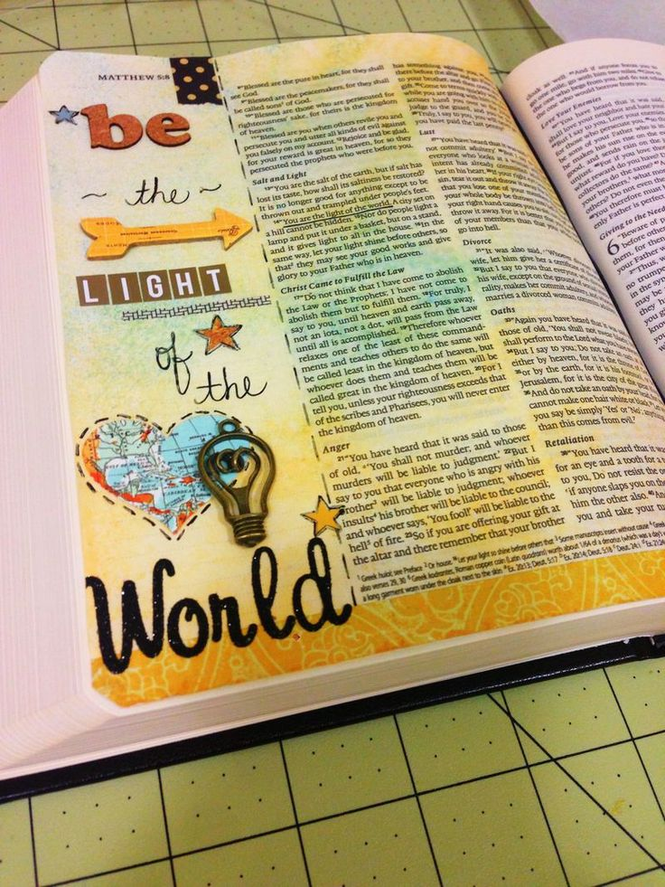 Journaling Bible. Be the Light of the World ~ Laura McCollough Bible Journaling