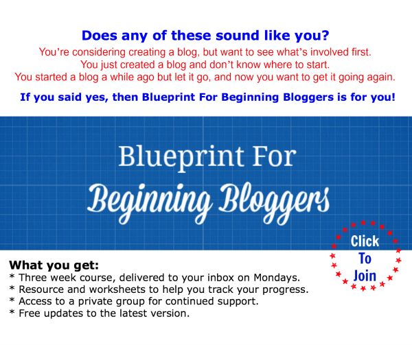 ... for beginners. Click the banner to sign up. #BBB #blogging #bloggers