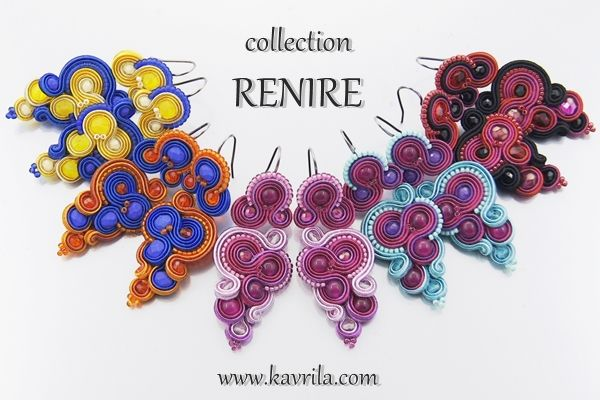 kolekcja RENIRE soutache #sutasz #soutache #collection #handmade #earrings #kavrila #colorful