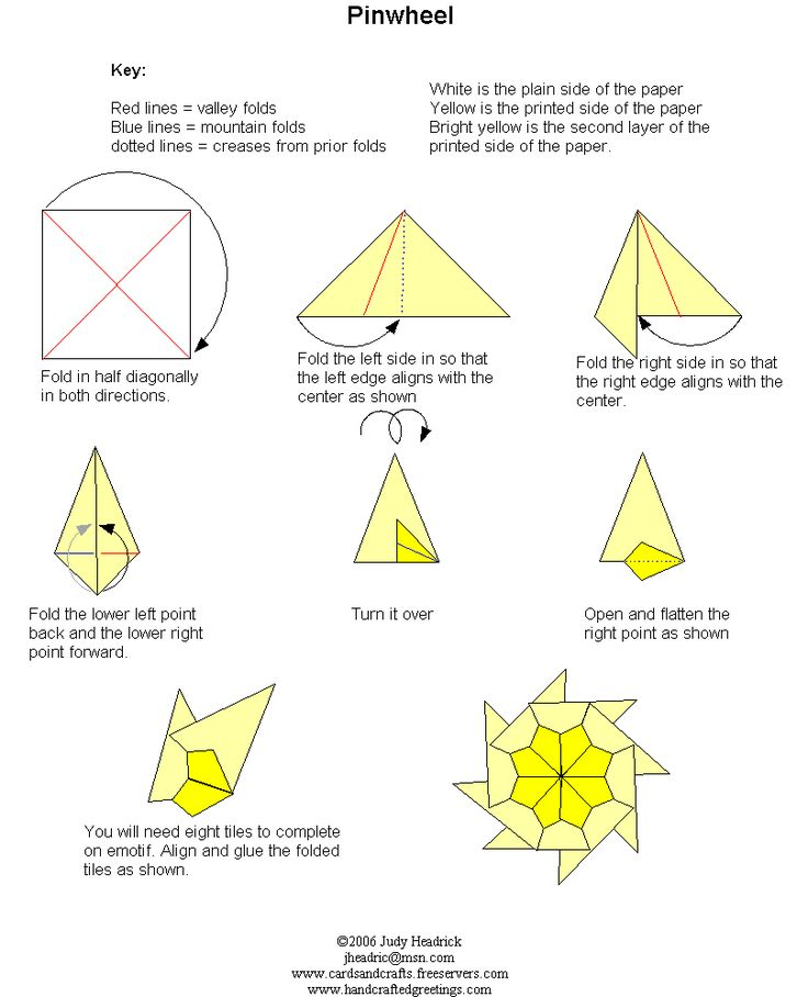 Pinwheel teabag folding instructions