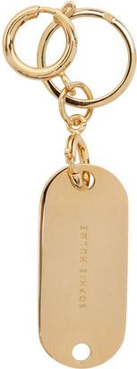 Shop Now - >  https://api.shopstyle.com/action/apiVisitRetailer?id=654475420&pid=uid6996-25233114-59 Sophie Hulme Gold Key Tag Keychain  ...