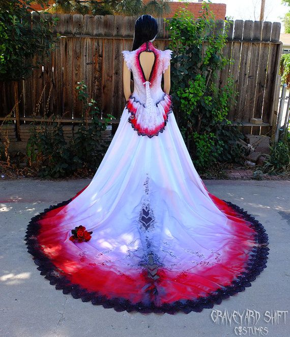 Halloween Wedding Gowns: Vampire Costume Blood Drenched // Vampire Bride