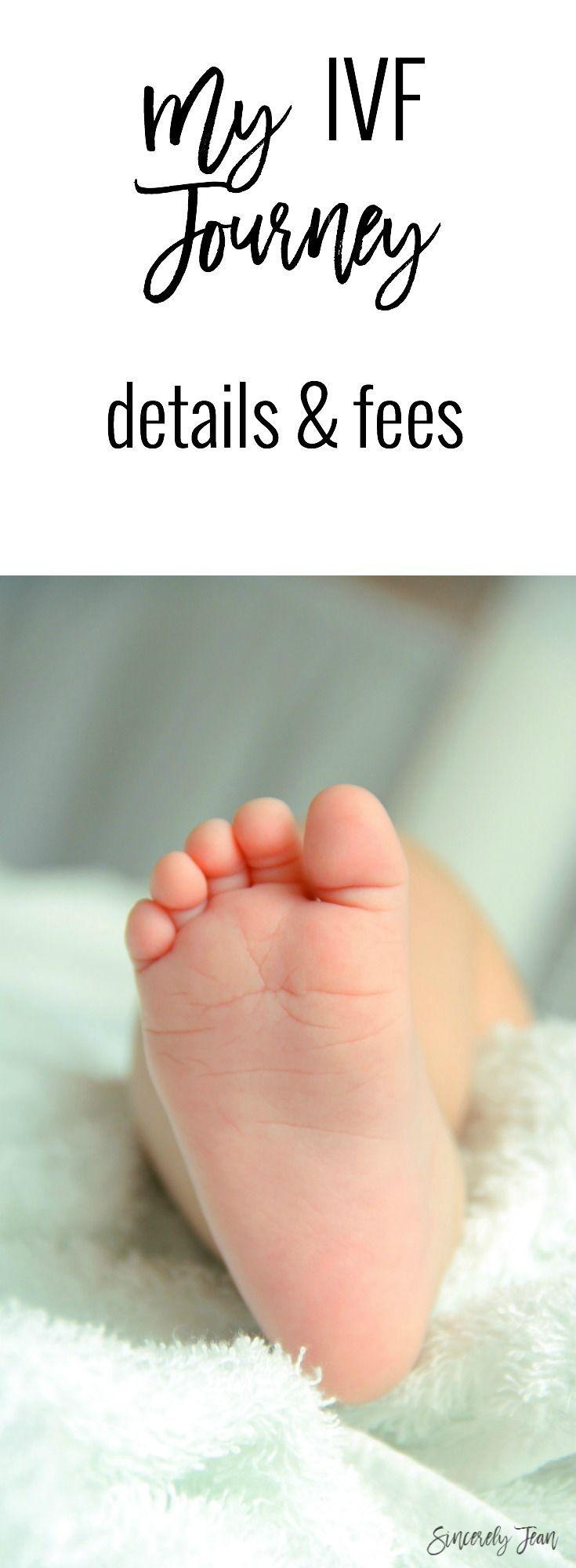 My ivf journey details and fees by SincerelyJean.com #ivf #In #Vitro #Fertilization #fertility #infertility #baby #fees #cost