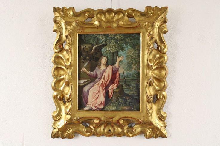 Teresa DEL PO (1646-1716): Museale Gouache Malerei - Der Evangelist Johannes in Antiquitäten & Kunst, Malerei, Gemälde 1700-1799 | eBay