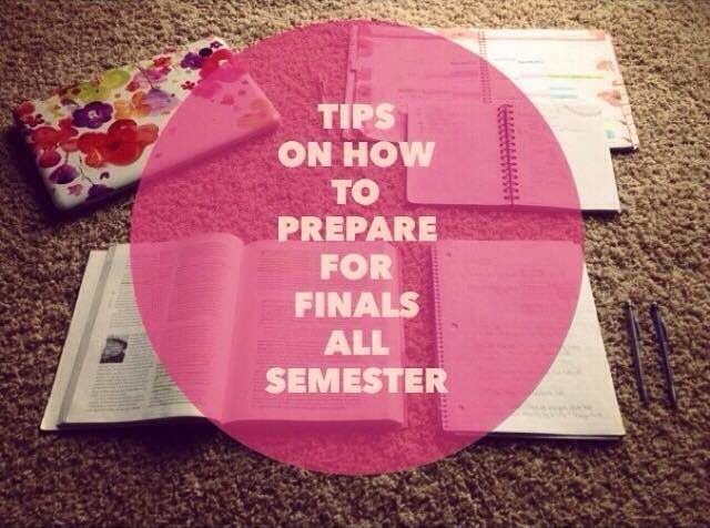 E for Emily : Tips on how to prepare for finals all semester