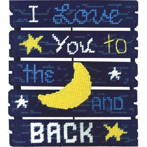 "Pallet-Ables Love You To The Moon Plastic Canvas Kit-10.5""X11.5""X1.25"" 7 Count"