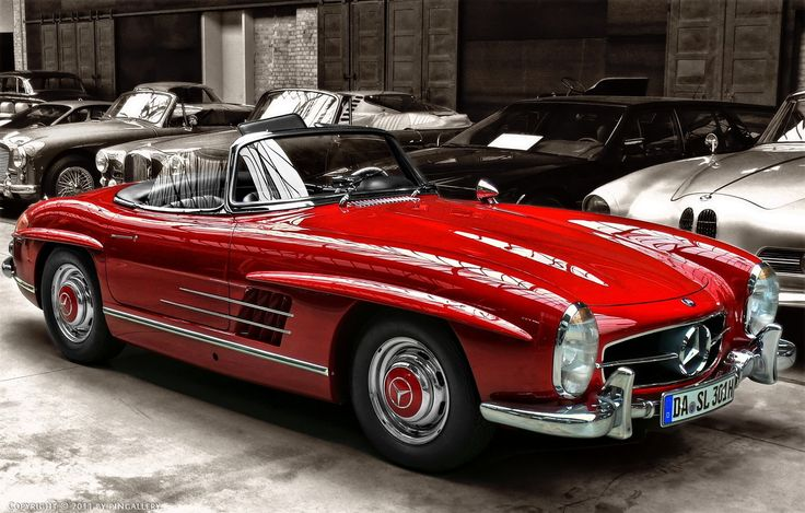 Mercedes Benz 300SL -- Curated by: Enterprise Glass Ltd | 1017 Richter St. Kelowna B.C. | 778-478-0598