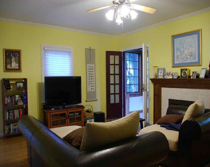Superior Charming Yellow Paint Color For Living Room With White Window And Black  Sofas With Cream Throw | Renovation | Pinterest | Living Room Colors, ... Gallery