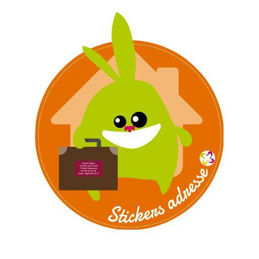 """Les """"stickers adresse"""" pour que vos affaires retrouvent le chemin de la maison ! http://www.signoo.com/fr/32/stickers-adresse-24-autocollants.html"""