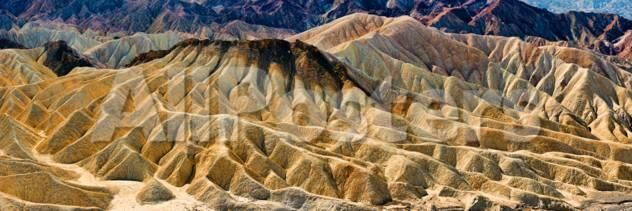 Rock Formation on a Landscape, Zabriskie Point, Death Valley, Death Valley National Park by Haixia Liu Landscapes Photographic Print - 107 x 36 cm