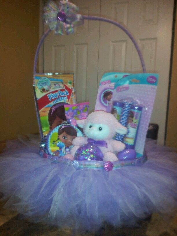 27 best disney themed baskets images on pinterest basket ideas doc mcstuffins easter basket with removable tutu negle Image collections