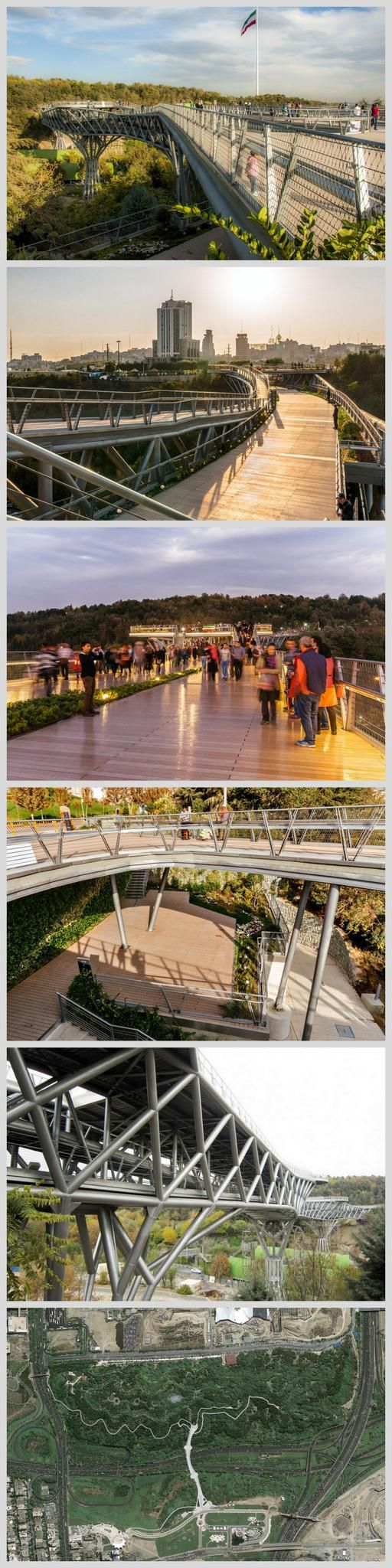Tabiat Pedestrian Bridge, Tehran,in daytime. Click image for link to full…