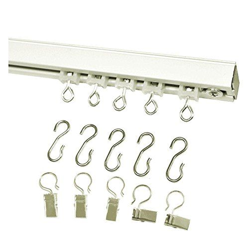 Ceiling Curtain Track Set With Wheeled Carriers Hooks An Https Www Amazon Com Dp B07d7fwg79 Ref Cm S With
