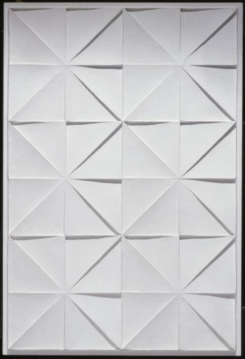 Jan Schoonhoven - relief, acrylic on wood, 1972 (collection tate)