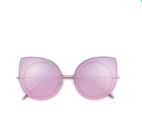Oversized Inner Frame Cat Eye Rose Gold Sunglasses