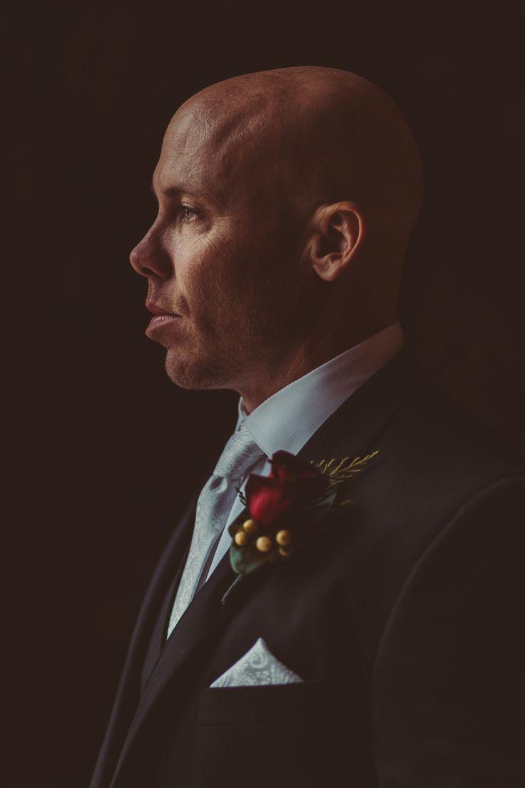 Elegant portrait of groom; PHOTOGRAPHY Joel + Justyna Bedford;