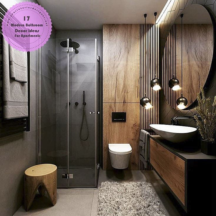 17 Exclusive Modern Bathroom Decor Ideas For Apartment Residents Best Bathroom Designs Bathroom Design Decor Bathroom Interior Design
