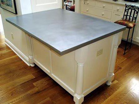 19 best zinc counter tops images on pinterest zinc for Zinc kitchen countertop