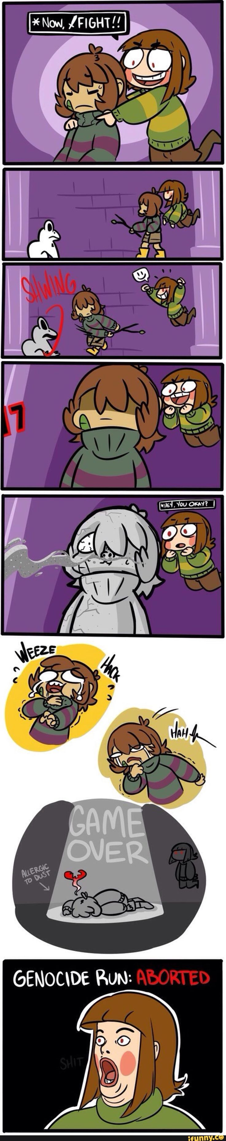 El problema de ser alergico al polvo xD la cara de chara me INKpacta :v