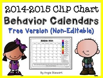 FREE 2014-2015 Clip Chart Behavior Calendars for Parent Co