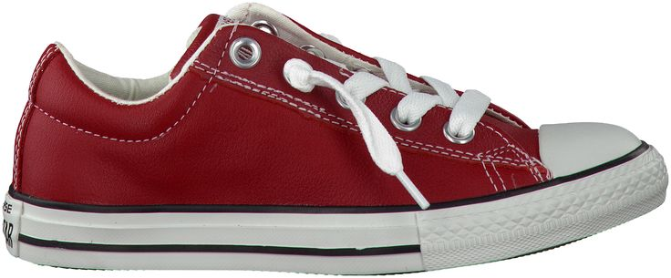 hippe Rode Converse Sneakers AS STREET OX SLIP KIDS
