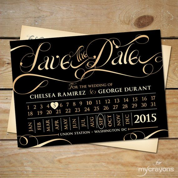 Train Ticket Save the Date Wedding Postcard by MyCrayonsDesign