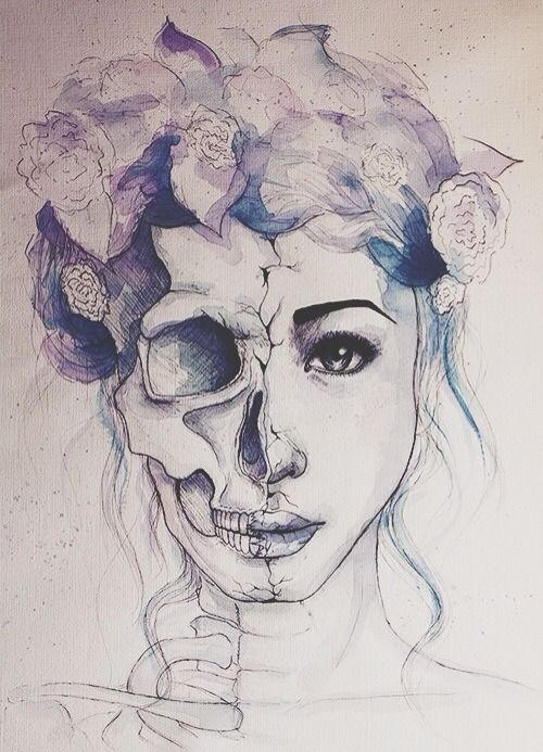 tumblr drawings hipster - this is an artsy day of the dead thing..: