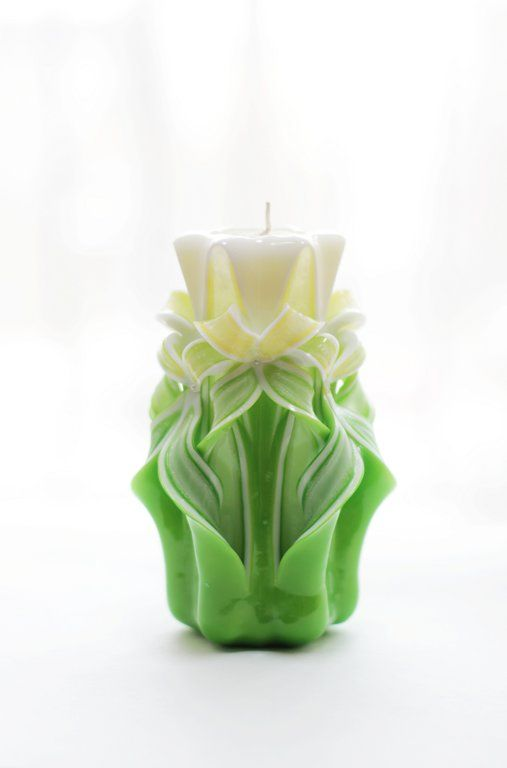Carved candles (16 cm)