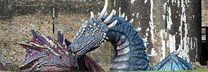 Dewi and Dwynwen have baby dragons    Castle St, Caerphilly CF83 1JD, Verenigd Koninkrijk