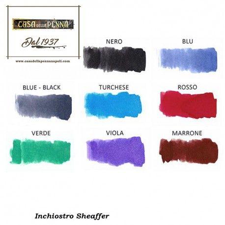 #ink #Sheaffer #inchiostro #nero #rosso #marrone #blu #BluNero #Turchese #Viola #verde http://www.casadellapennanapoli.com/sheaffer/239-inchiostro-sheaffer.html
