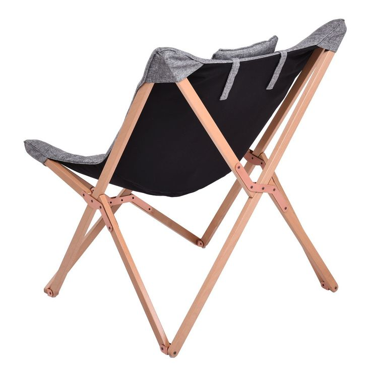 8 best Folding Butterfly Solid Black Wooden Frame Chair