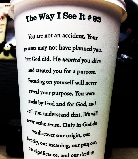 love thisRemember This, God, Cups Of Coffe, Coffe Cups, Coffee Cups, Well Said, Truths, Starbucks Cups, Rick Warren Quotes