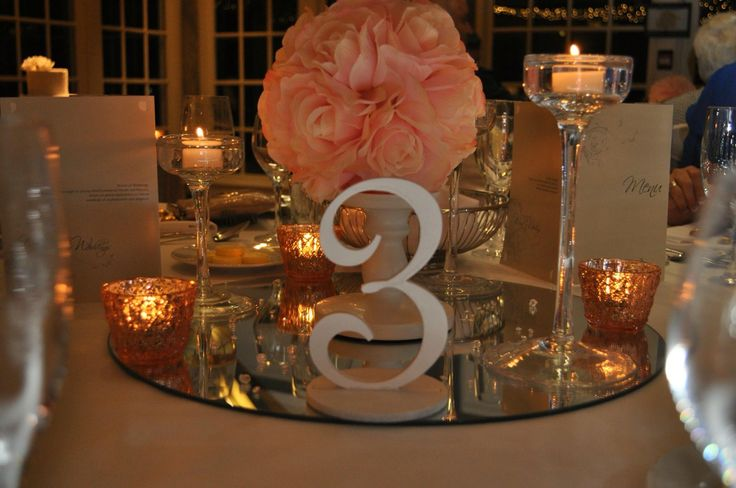Style on Q table centerpiece