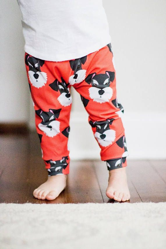 58d544662cf2a Handmade Baby Leggings - Miniature Schnauzer Baby Leggings - Miniature  Schnauzer - Baby Leggings - Boy Leggings- Girl Leggings - Toddler