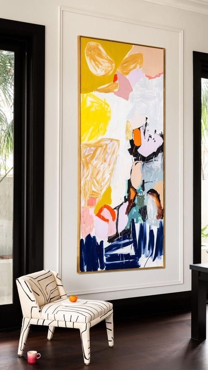 Design Room, Interior Design, Design Design, Chair Design, Casa Pop, Room Decor, Wall Decor, Painting Inspiration, Room Inspiration