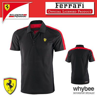 Sale! #ferrari formula 1 team f1 mens #black/red sports polo shirt - #genuine ite,  View more on the LINK: 	http://www.zeppy.io/product/gb/2/162014969436/