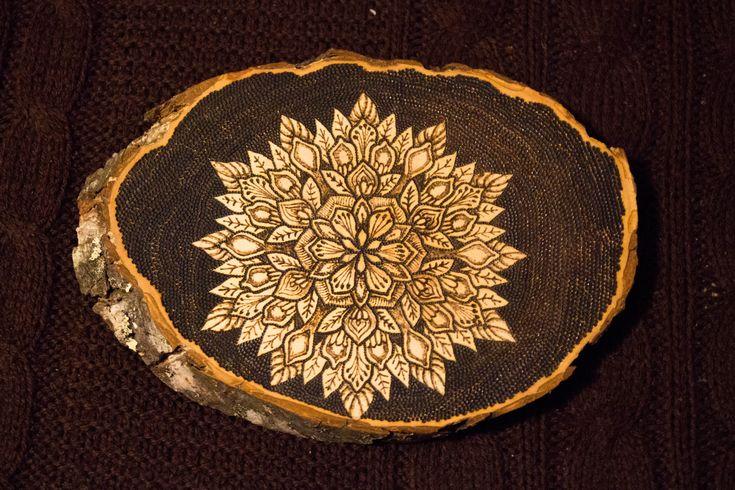 Pyrography Mandala