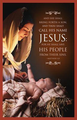 And They Shall Call His Name Jesus (Matthew 1:21) Christmas Bulletins, 100