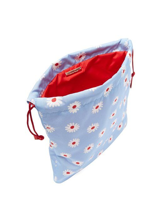 c097cee65c4 Miu Miu Daisy-print drawstring nylon make-up bag