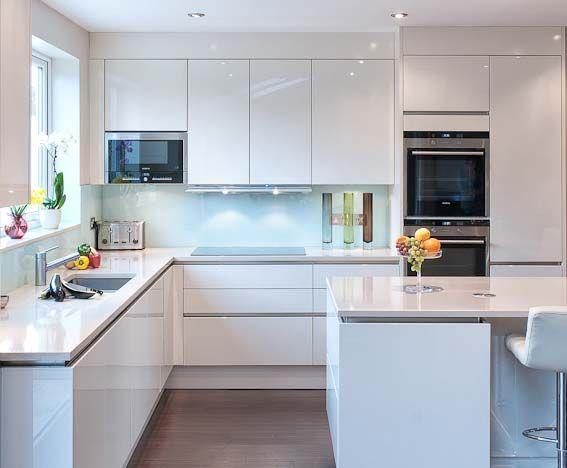 High gloss white kitchen by Urban Myth London