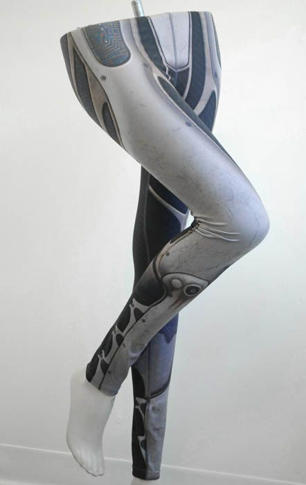 Vostok Leggings - Size XL - Printed Armour and Metal Tights - Sci Fi