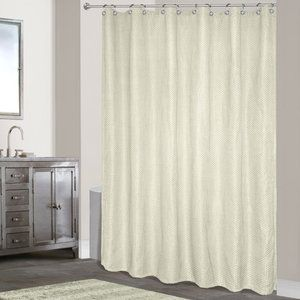 United Curtain Co. Hamden Polyester Shower Curtain