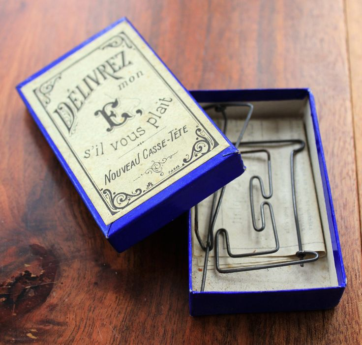 Antique French victorian puzzle/brain teaser game : Deliver my E, please! by LaChineuseFrancaise on Etsy