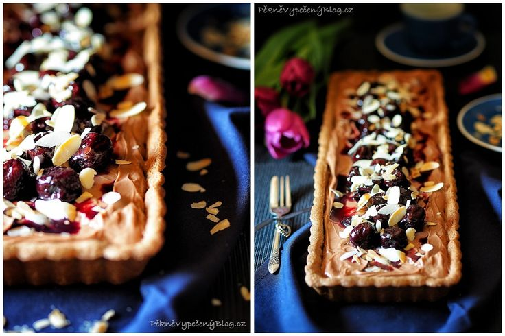 Čokoládový koláč s třešněmi
