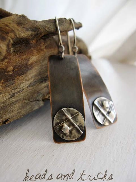 Eco-Silver {copper and recycled sterling silver, fold forming. Handmade by Beads and Tricks}