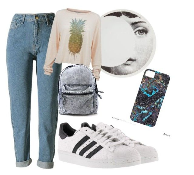 """""""💀"""" by tamas-erdos ❤ liked on Polyvore featuring Fornasetti, Wildfox, adidas, men's fashion and menswear"""