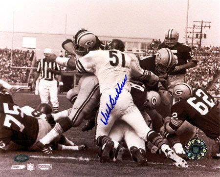Dick Butkus Chicago Bears Packers Pile B & W 8x10 Autographed Photograph