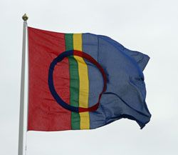 The Lapp culture has undergone great changes during the 1970s. In the 1990s, the land of the Sami (Lapland) got new national symbols. These give them a new sense of unity.  The blue, red, green and yellow flag of the Sami flag flies from the poles in conferences and meetings.