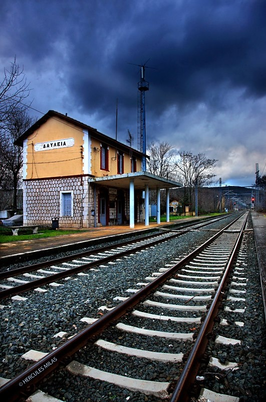 The train station of Davlia, Viotia, Central Greece / photo by Hercules Milas